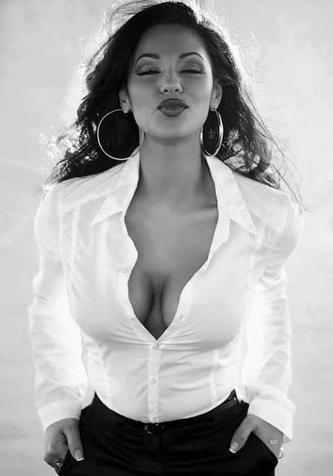 Sexy pictures of women in white blouses