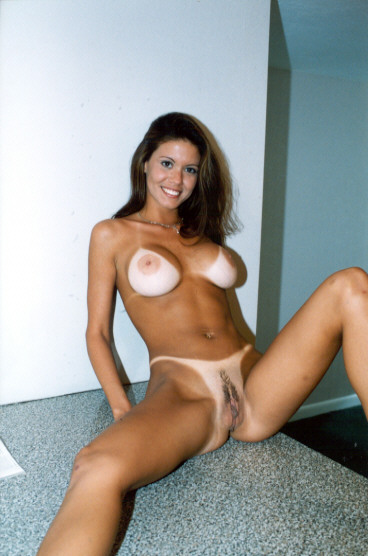 Extreme tan lines nude