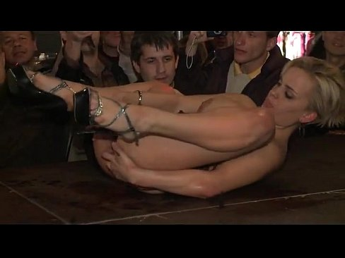 Exotic dancer showing pussy