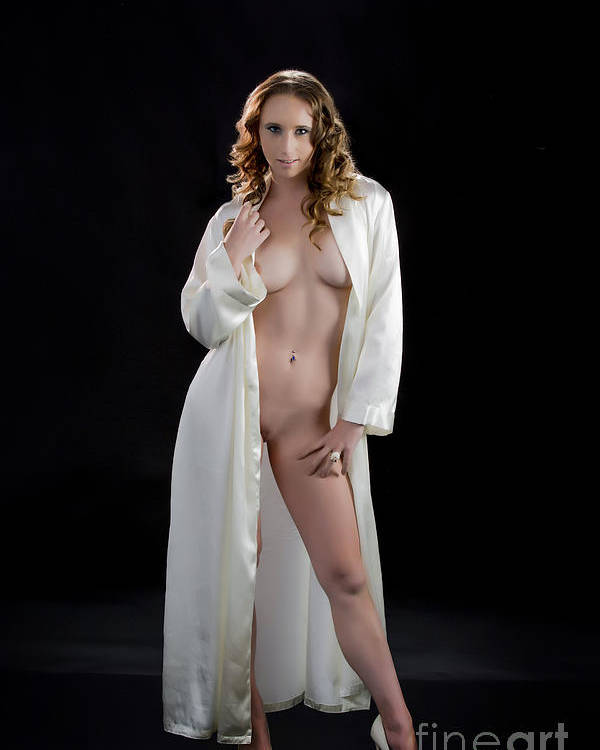 Naked women in a robe