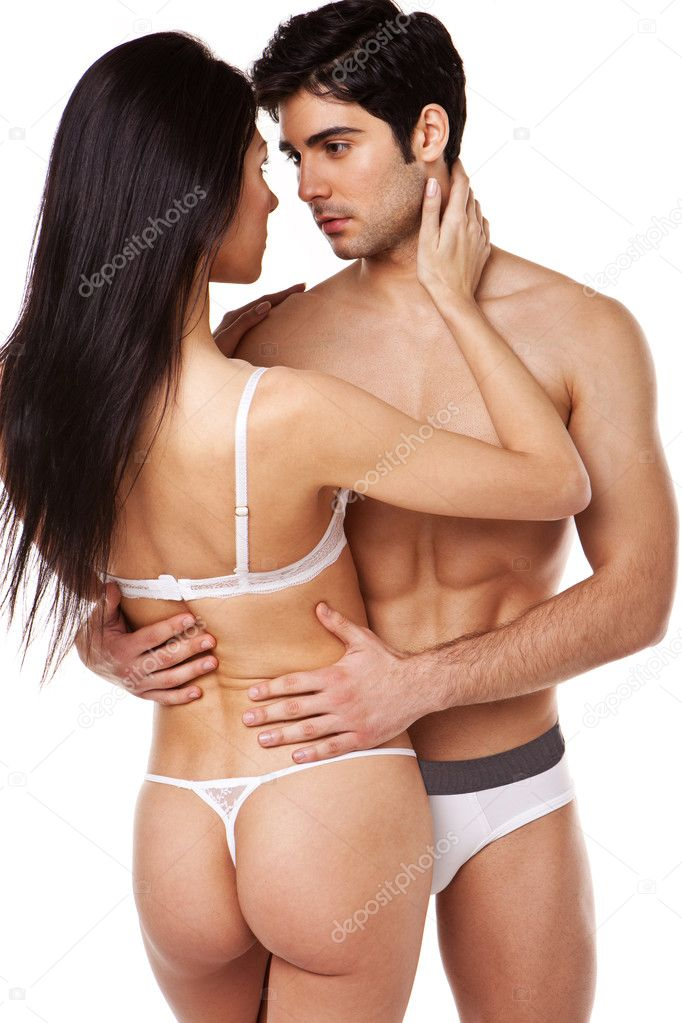 Sexy couple in panty pic