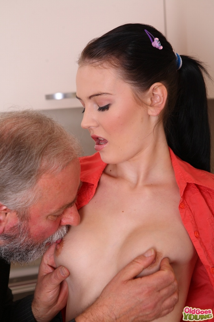 Sexy girls sex with hot old man